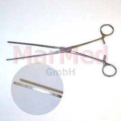 Svorka střevní Kocher, 25 cm, elastická, rovná