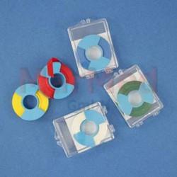 Páska samolepicí na označení nástrojů MEDI-I-TAPE, modrá, role 6,5 mm x 7,6 m v dóze z plastu, nesterilní