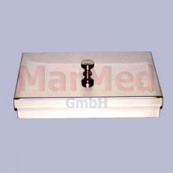 Kontejner na nástroje, 60 x 100 x 30 mm, nerez ocel, víko s úchopem
