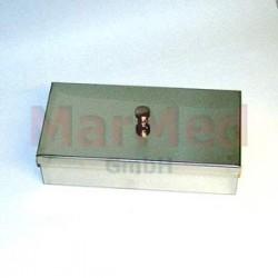 Kontejner na nástroje, 200 x 100 x 50 mm, nerez ocel, víko s úchopem
