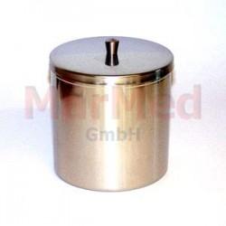 Kontejner na tampóny, nerez ocel, 10 x 10 cm (průměr x výška), objem 0,75 l, víko