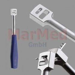 Páka ohýbací dle Spiese na dlahy 2,3 mm - 4,0 mm, délka 220 mm, 1 kus, Aesculap VC068R