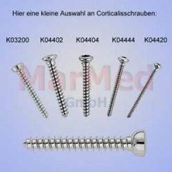 Šroub kortikální, ? 2,0 x 10 mm, 1 ks, vnitřní šestihran, samořezný závit