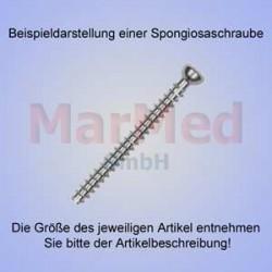 Šroub spongiozní, ? 3,5 x 22 mm, balení po 5 ks, vnitřní šestihran