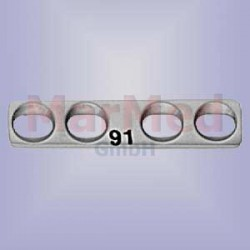 Dlaha kostní přímá se 4 otvory, délka 22 mm, pro kortikální šrouby 1,5 / 2,0 mm, šířka 5 mm, vzdálenost otvorů 5