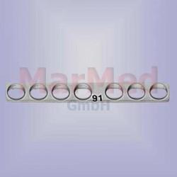 Dlaha kostní přímá se 7 otvory, délka 37 mm, pro kortikální šrouby 1,5 / 2,0 mm, šířka 5 mm, vzdálenost otvorů 5