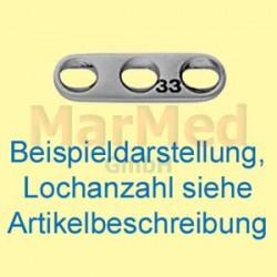Dlaha kostní mini přímá s 5 otvory na šrouby ? 2,0 mm, délka 29 mm, síla 1 mm, mírně zahnutá