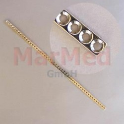 Dlaha kostní přímá s 50 otvory, délka 300 mm, pro kortikální šrouby 2,7 mm, šířka 8 mm, vzdálenost otvorů 8 mm,