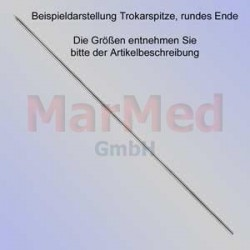 Kirschnerův drát s trokarovým hrotem, oblá koncovka, délka 70 mm, ? 1,0 mm, 10 ks