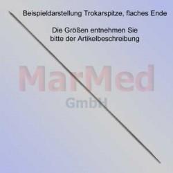 Kirschnerův drát s trokarovým hrotem, plochá koncovka, délka 150 mm, ? 2,2 mm, 10 ks