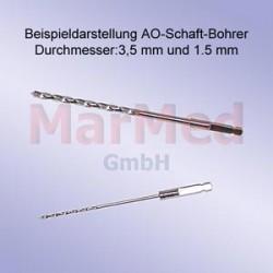 Vrták s osazením AO, ? 2,0 mm, délka 100 mm