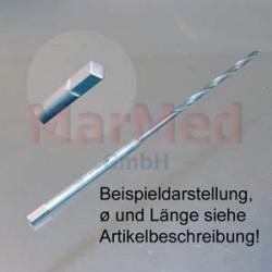 Vrták s 4-hranným osazením, ? 1,1 mm, délka 70 mm