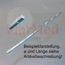 Vrták s 4-hranným osazením, ? 3,5 mm, délka 130 mm