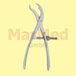 Kleště úchopné na kosti, 19 cm, nastavitelná aretace