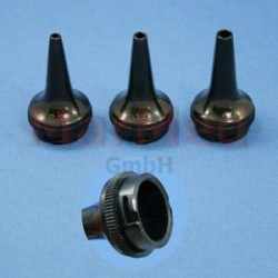 Zrcátka ušní na vícero použití, sada pro veterináře, krátké provedení (? 2,5 mm, 3,5 mm a 7 mm - po 1 kusu),
