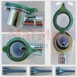 Otoskop diagnostický Welch Allyn, uzavřená hlavice, otočná lupa, osvětlení HPX 3,5 V, 3 zrcátka na vícero použití (4