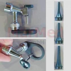 Otoskop operační Welch Allyn, otevřená hlavice, otočná lupa, osvětlení HPX 3,5 V, 3 zrcátka na vícero použití (4 x