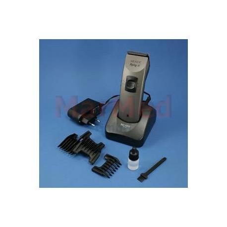 Střihací strojek Moser Styling III s tichým motorem 12 W, nastavitelná délka střihu 0,1-3 mm, dodáváno s nabíječkou,