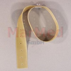 Popruh gumový 500 mm, děrovaný s knoflíkem na upevnění