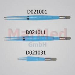 Pinzeta bipolární pro elektrokauter, rovná, délka 110 mm, hrot 0,5 mm