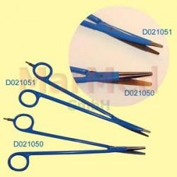 Nůžky bipolární pro elektrokauter, zahnuté, délka 210 mm, tenké ostří