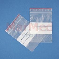 Sáček na léky - velikost cca 7 x 10 cm, 1000 ks s uzavírací lištou ZIP a polem na popis