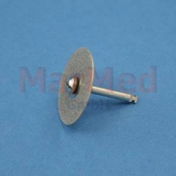 Diamantový brousek - kolečko hrubé do kolénka, ? 22 mm