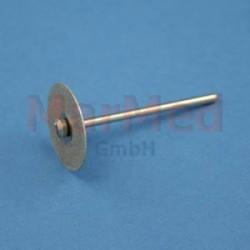 Diamantový brousek - kolečko hrubé ? 22 mm do rovných nástavců (? 2,35 mm)