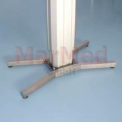 Noha - dvojitá, tvar V ke stolům MarMed Basic 2, nerez ocel, nastavitelná