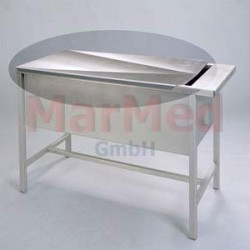 Nástavec k multifunkčním stolům - deska z nerez oceli s odtokovým kanálem
