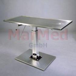 Stůl operační/ošetřovací veterinární Marmed - s hydraulickou nožní pumpou
