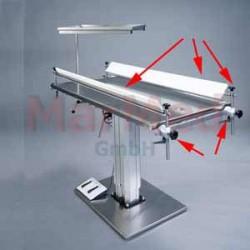 Desky profilované do tvaru V pro operační stoly MarMed z PE-Natur cca 1,30 x 0,1 m