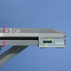 Váha integrovaná do stolní desky