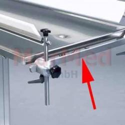 Lišta (10 x 25 mm) z nerez oceli, délka 50 popř. 60 cm, vhodná k příslušné šíři stolu