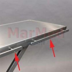 Lišta (10 x 25 mm) z nerez oceli, délka 120 cm, dělená