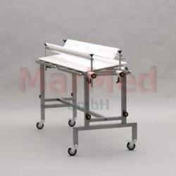 Stůl operační veterinární speciál Marmed - deska z PE cca 134 x 39 cm