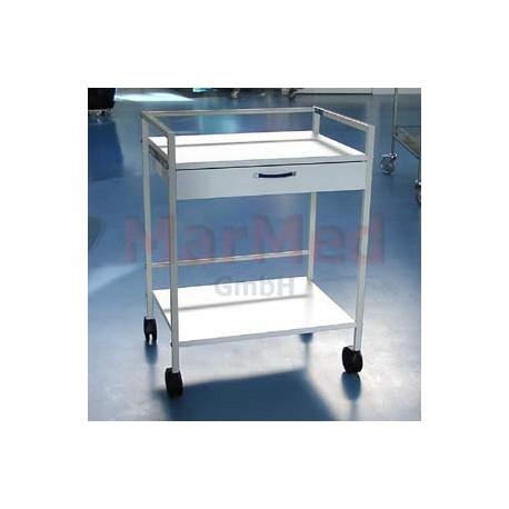Vozík univerzální na nástroje, 64 x 47,5 x 85 cm (šířka x hlouba x výška), s 1 zásuvkou, ochranným zábradlím a 2