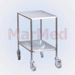 Vozík univerzální na nástroje z nerez oceli, 42,5 x 62,5 x 80 cm, (šířka x hlouba x výška), 2 přihrádky