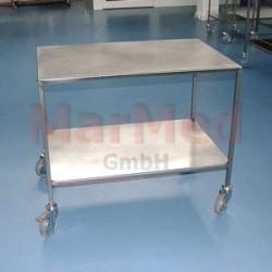 Vozík univerzální na nástroje z nerez oceli, 94 x 62,5 x 80 cm, (šířka x hlouba x výška), 2 přihrádky