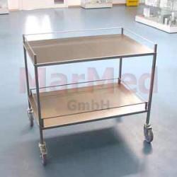 Vozík univerzální na nástroje z nerez oceli, 94 x 62,5 x 80 cm (šířka x hlouba x výška), 2 přihrádky, bočnice u