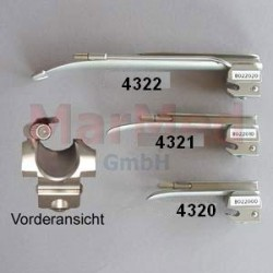 Lžíce laryngoskopu z nerez oceli rovná (Miller), velikost 1, délka 100 mm