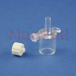 Konektor standardní 15 mm, vnitřní ? 2,5 mm, s postranním adaptérem Luer-Lock