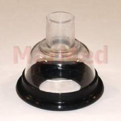Narkotizační maska z PVC, velikost 1 - s měkkým, elastickým těsněním a spojovacím