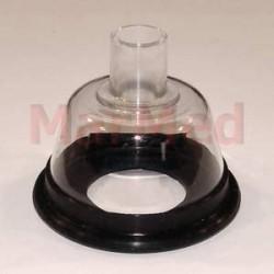 Narkotizační maska z PVC, velikost 2 - s měkkým, elastickým těsněním a spojovacím