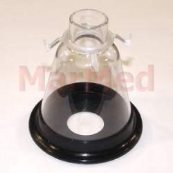 Maska narkotizační z PVC, velikost 4 - s měkkým, elastickým těsněním a spojovacím