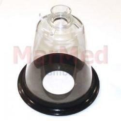 Maska narkotizační z PVC, velikost 5 - s měkkým, elastickým těsněním a spojovacím