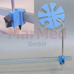 Fixační prvek Ulmer se svorkou pro standardní lišty (25 x 10 mm), u upevnění dýchacích hadic a kabelů