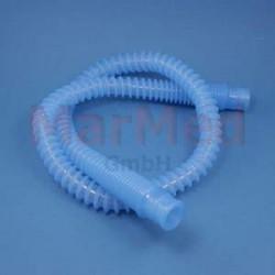 Hadice skládaná silikonová, ? 22 mm, délka cca 1,10 m, průhledná s nádechem modré