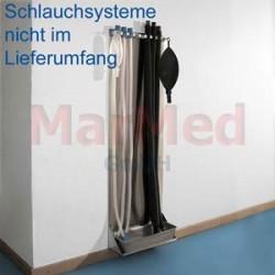 Stojan na dýchací hadice a vaky z nerez oceli - na sušení a pověšení, rozměry: 37 x 111 x 15 cm (šířka x výška x