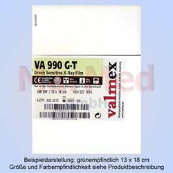 RTG-film, zelenocitlivý, 18 x 24 cm, 100 ks